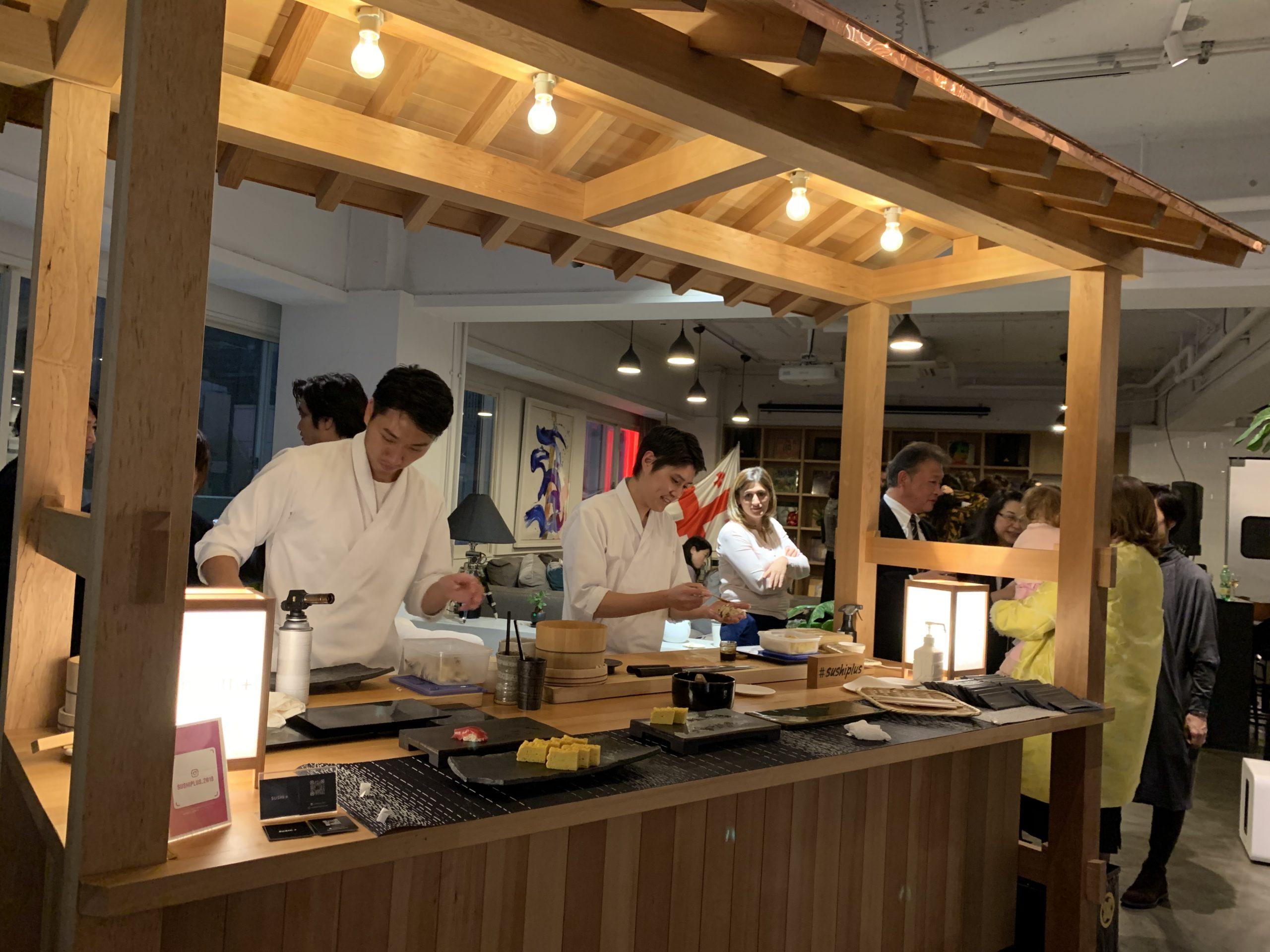 ジョージア大使館での出張寿司